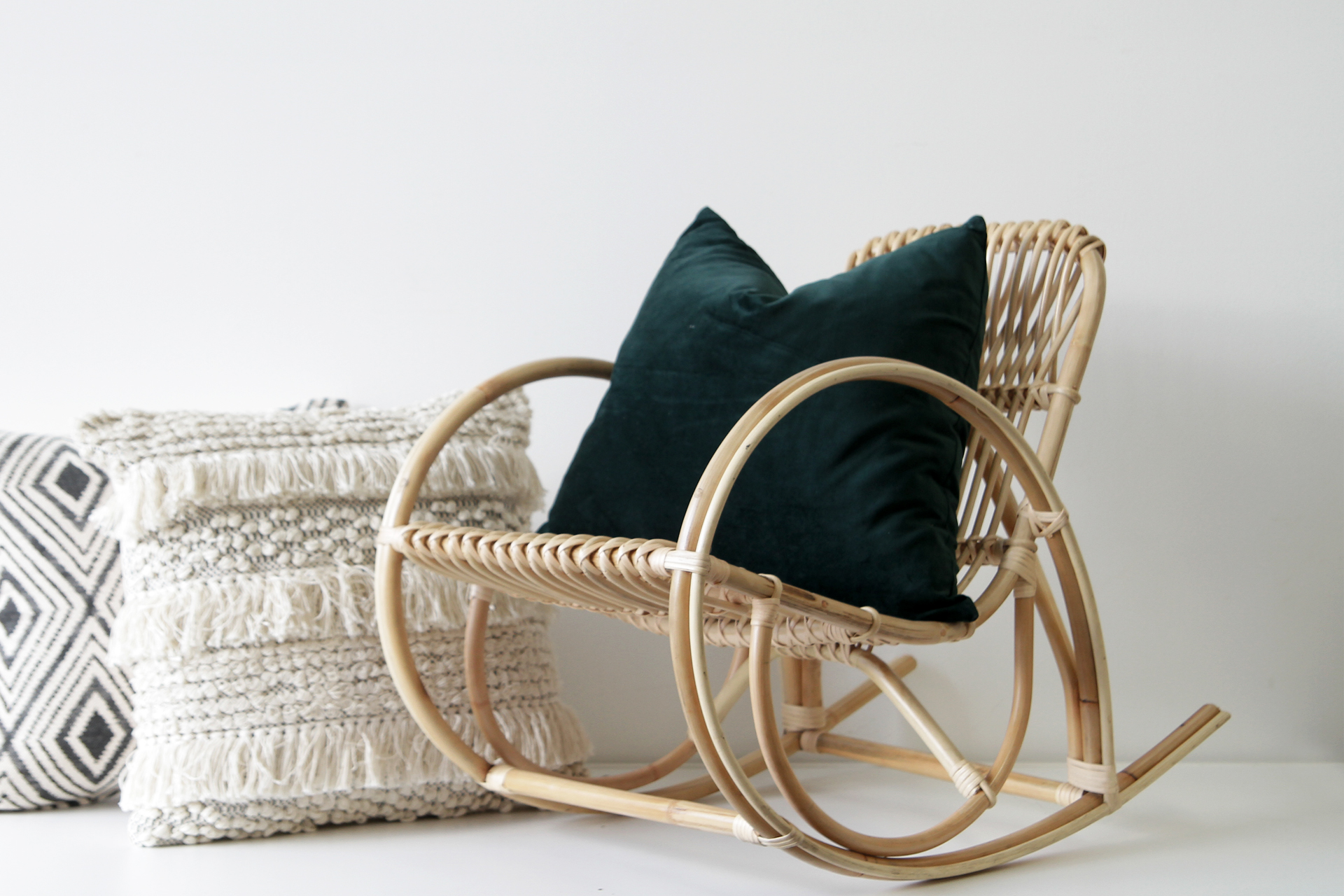 Small Rocking Chair Deco Small Rocking Chair Naturally Cane Rattan And