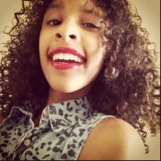 mixed girl curls ; blaxican