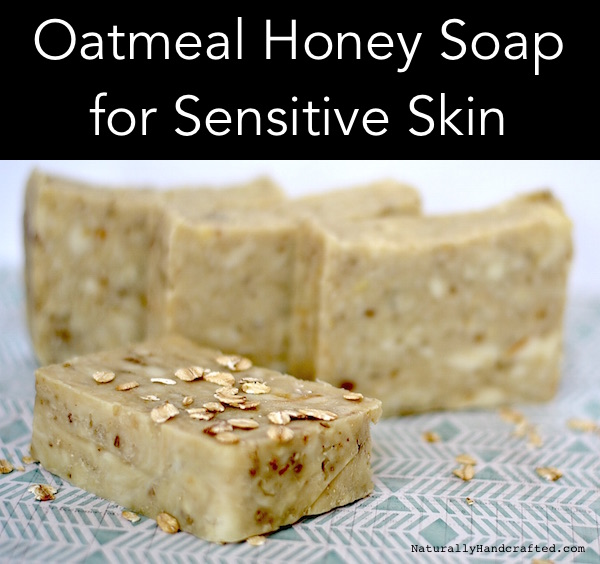 Homemade Oatmeal Honey Soap