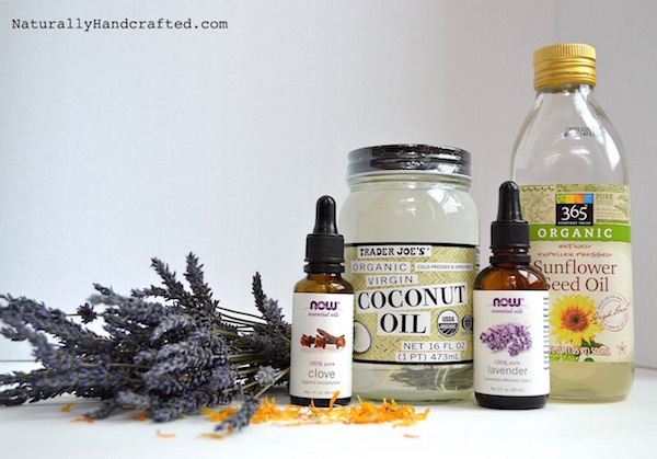 calming lavender body oil ingredients