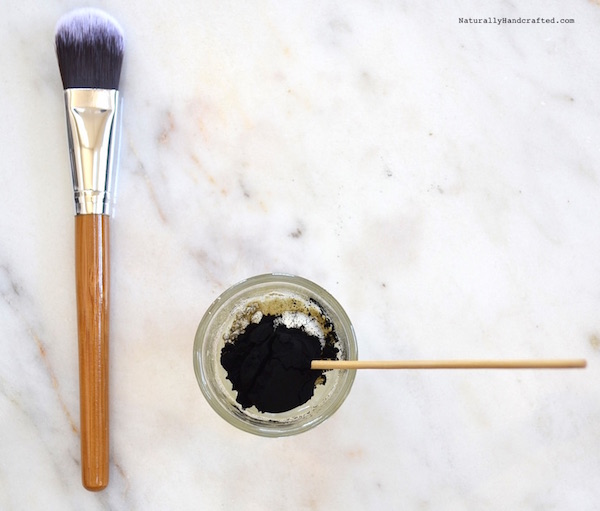 mix all ingredients for DIY Charcoal Mask