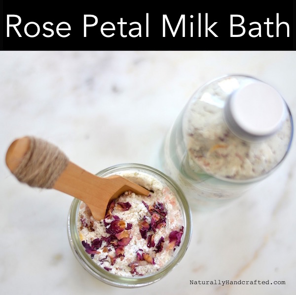 rose petal milk bath