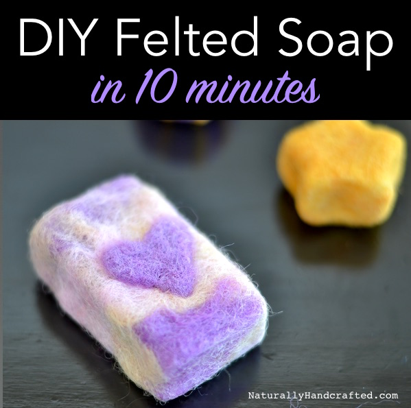 diy felted soap