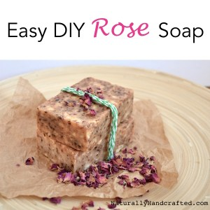 easy diy rose soap with wrapper