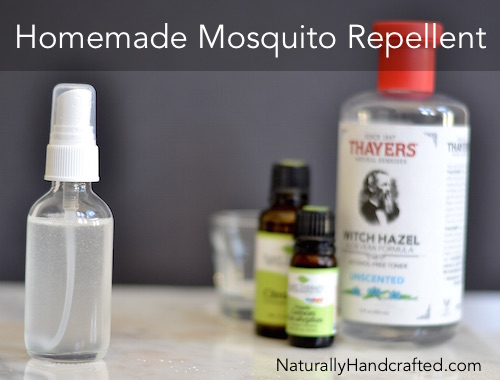 Homemade Mosquito Repellent Made with Natural Ingredients