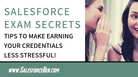 Salesforce Exam Secrets banner text
