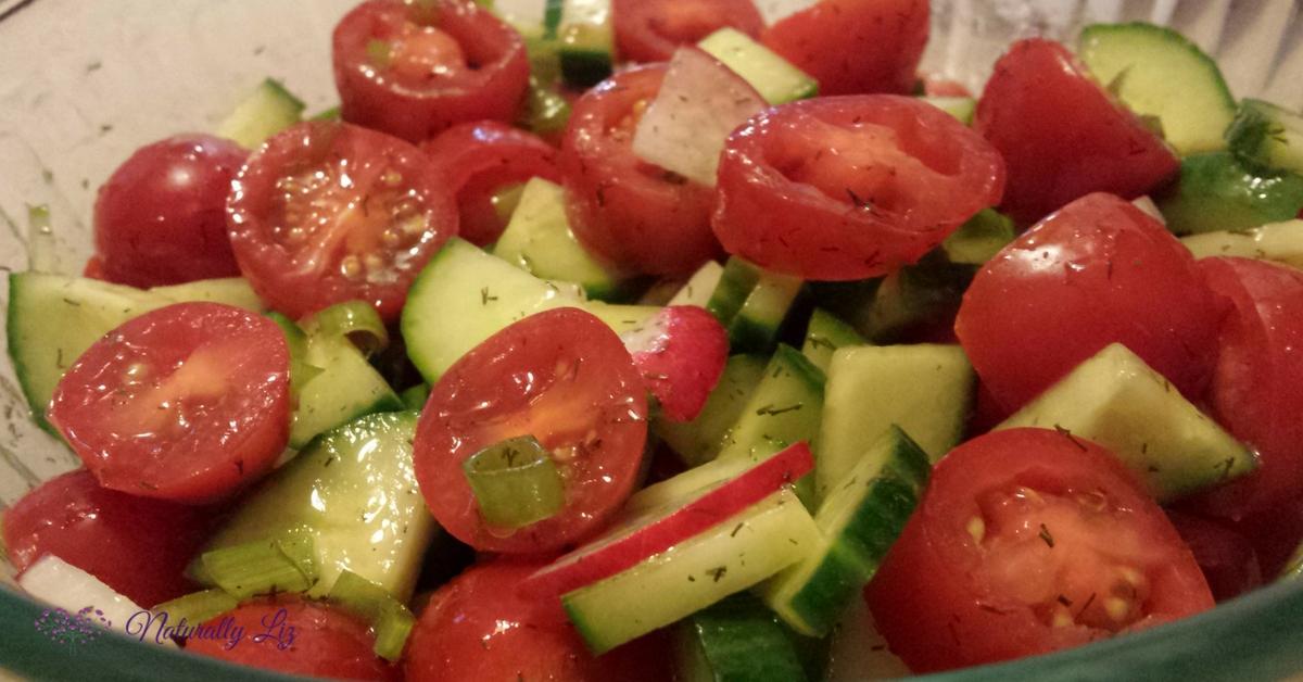 Low Fodmap Cucumber, Tomato, and Radish Salad