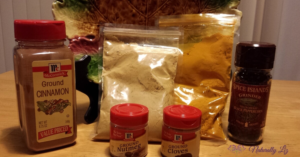 Ingredients for Anti-Inflammatory Fall Spice Blend