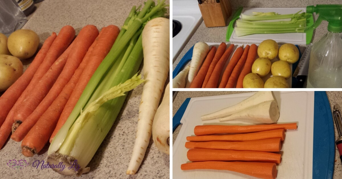 Prepping Veggies for Low FODMAP Chicken Vegetable Soup