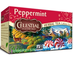 Peppermint Celestial Seasonings Tea