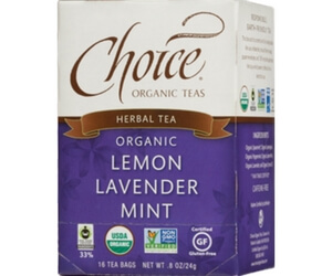 Choice Organics Tea Lemon, Lavender, Mint