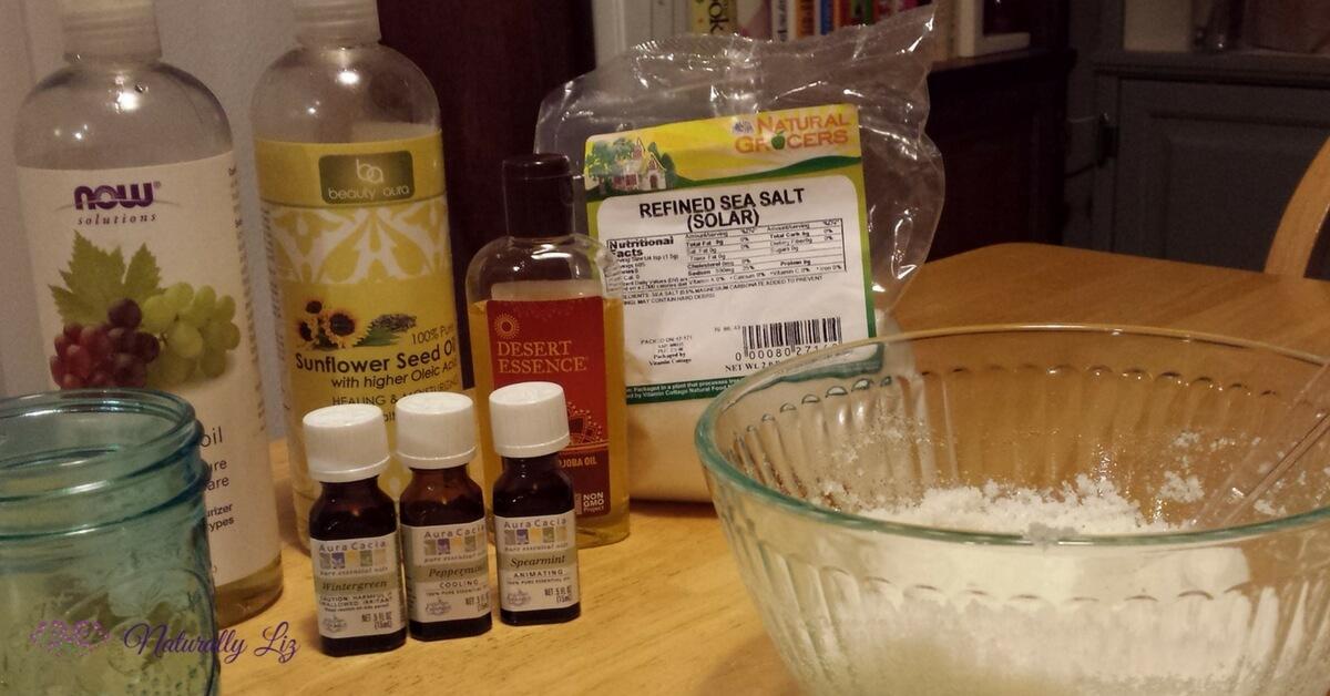 Sea Salt Scrub Ingredients