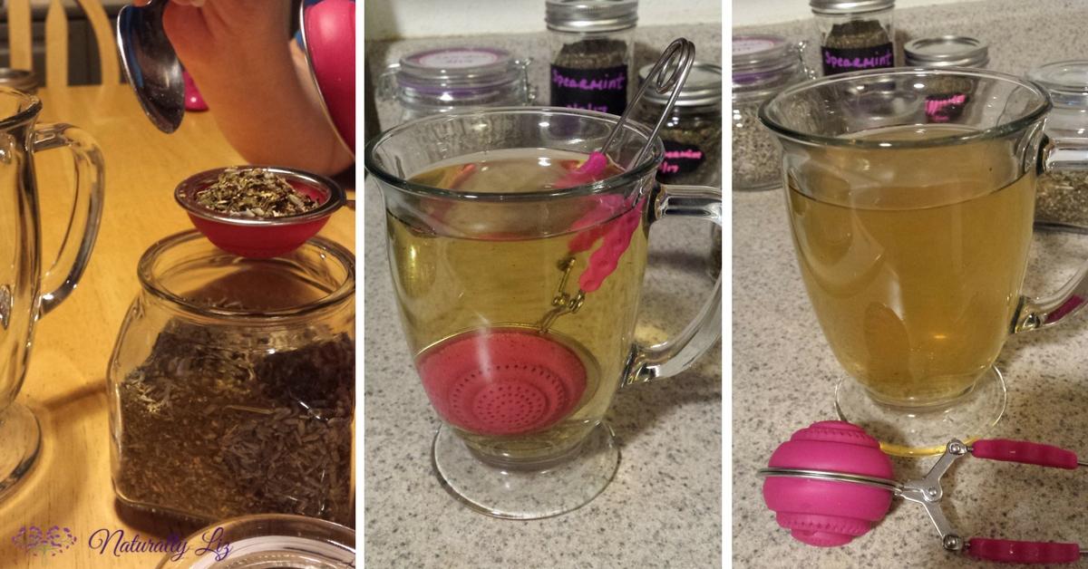 Lemon, Lavender, Mint Tea with silicone tea ball