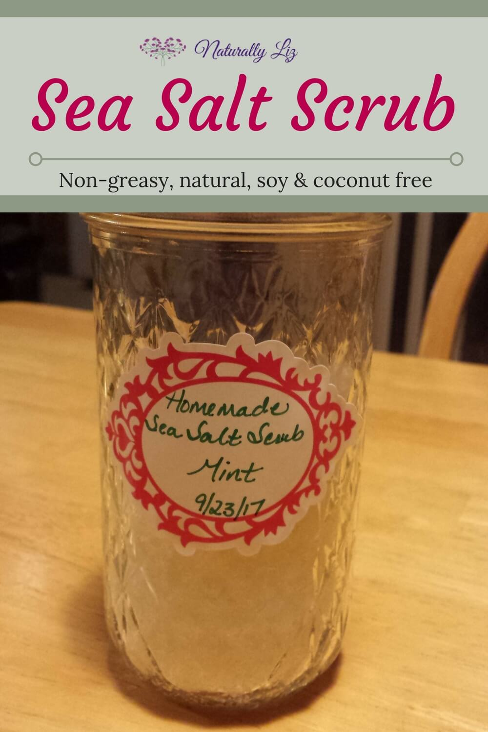 Sea Salt Scrub~naturallyliz.com
