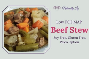 Low FODMAP Beef Stew (Soy Free, Gluten Free, Dairy Free, Paleo Option)