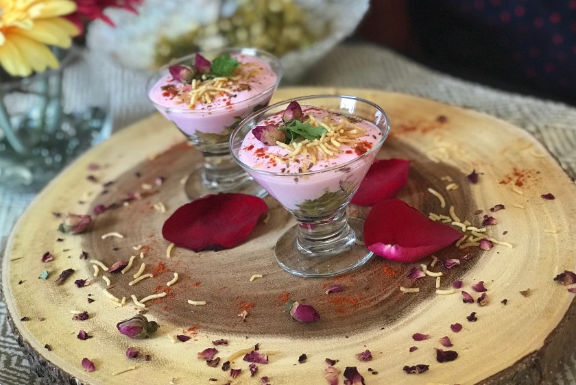 Sprouted Rose Dahi Chaat