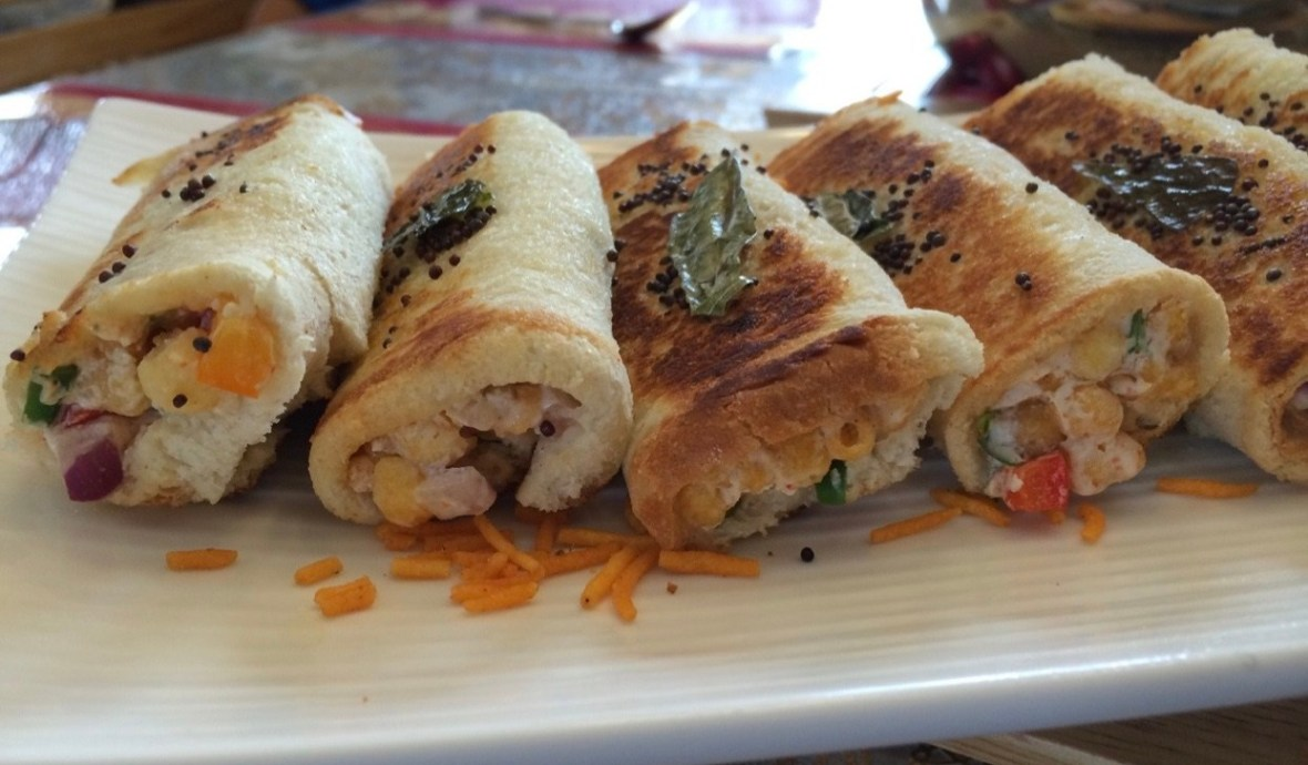 """Crunchy outside and creamy inside, these Boondi Rolls are truly mouth drooling and flavorsome preparation for breakfasts."". The first thing that comes to mind when I open the fridge in the morning is, ""How about making an exciting breakfast from it?"" Trust me transforming a dish is a quite challenging task, but then I guess that's the fun of cooking. Yesterday morning at home, we had some boondi raita that was from the night before. Somehow, the morning rush sparked my creativity and resulted in a delicious breakfast."
