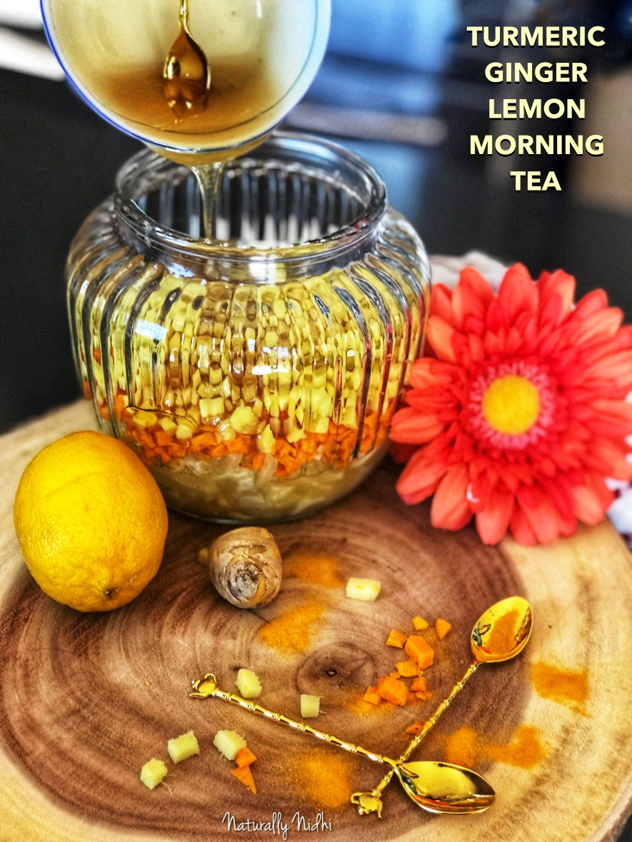 Start your morning with this amazing detox tea! Freshly diced turmeric, lemon, ginger, and a drizzle of honey are all there to provide a healthy start to your day!! It can be stored for weeks and offers wonderful gastrointestinal benefits.
