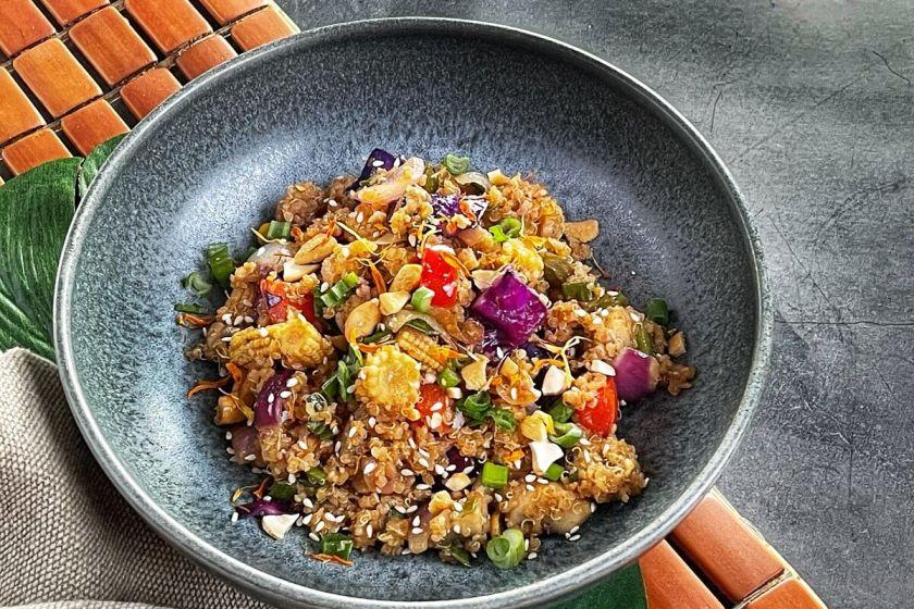 Vegan Quinoa Stir Fry