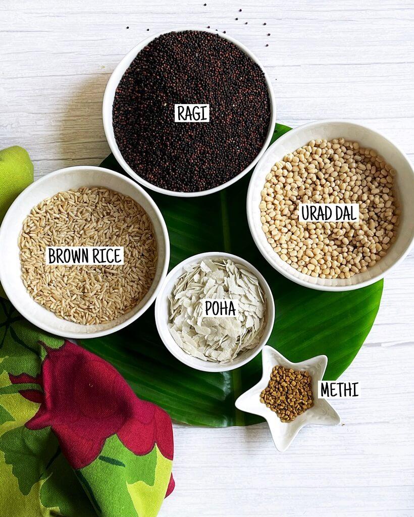 Ragi Dosa Ingredients