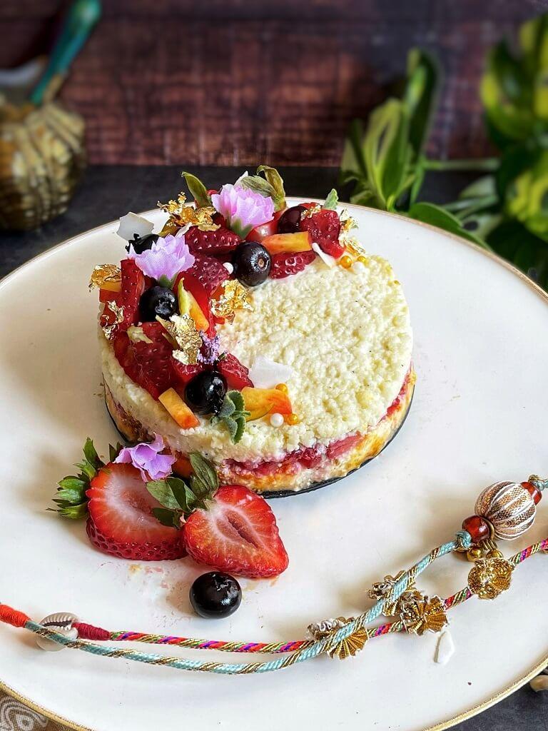 Coconut Kalakand Cake