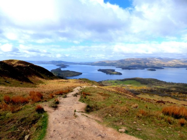 Loch Lomond's islands from Conic Hill. ©Eleanor Dickinson