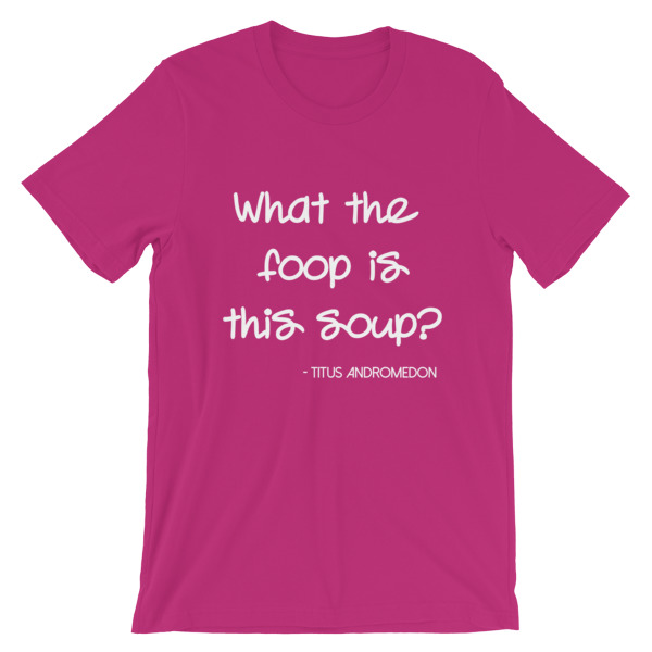 What The Foop Raspberry Tee | Fly Mama Shop