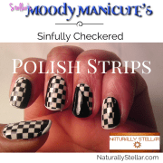 Moody Manicure - Sinfully Checkered Polish Strips