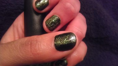 Moody Manicure Call You Later & Black on Black