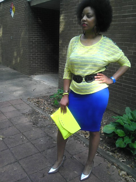 Naturally Stellar, Neon, Bodycon, Target, Forever 21, Afro, Fashion, Outfit, Lunch Date, Star Trek