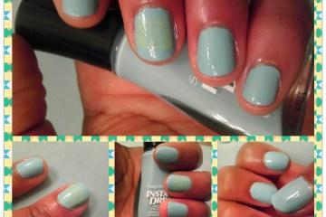 Mellow Yellow, Blue Away, Sally Hansen, Nail Art, Naturally Stellar, Beauty, Manicure, Moody Manicure, Nail Polish