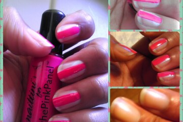 Nailtini, Tini Beauty, the Pink Panel, Naturally Stellar, Nail Polish, Pink, Grenadine, Blue Flame