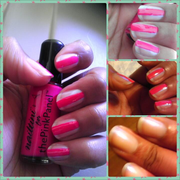 Nailtini, Tini Beauty, the Pink Panel, Naturally Stellar, Nail Polish, Pink, Grenadine, Blue Flame