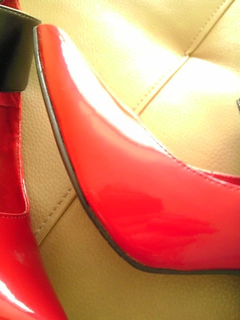 Heels, Fashion, Thrift, Goodwill, Patent Leather, Red, Pumps, Thrifty Thursday, Naturally Stellar