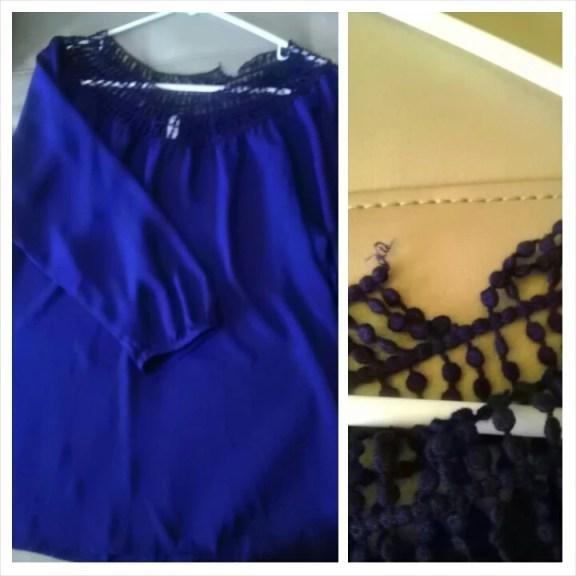 Blouse, cobalt, Thrifty Thursday, Thrift, Fashion, Fashionista, Goodwill, Naturally Stellar, Spring, Deal