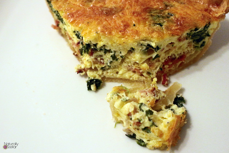 The Perfect Spinach Bacon Quiche | Naturally Stellar