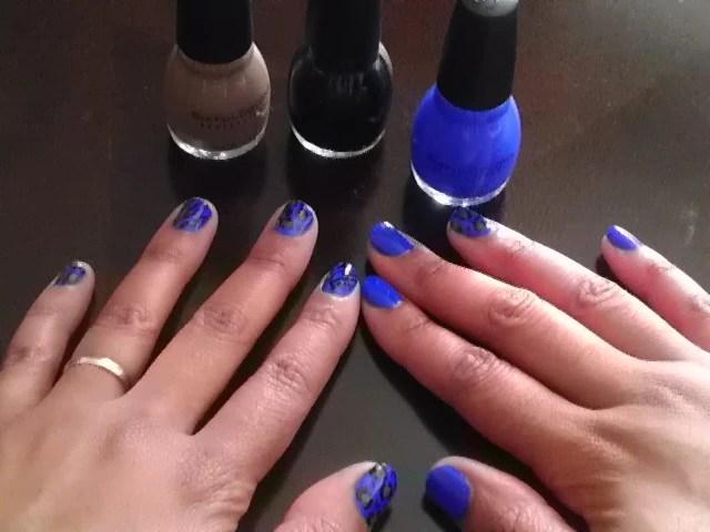 Endless Blue, Animal Print, Nails, Nail Art, Naturally Stellar, Beauty, Manicure, Moody Manicure