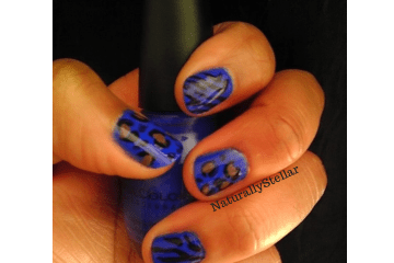 Endless Blue, Animal Print, Nails, Nail Art, Naturally Stellar, Beauty, Manicure, Moody Manicure