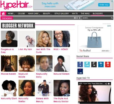 Press Feature On HypeHair.com Blogger Networkl 2014.