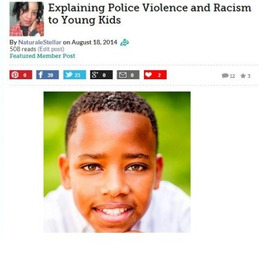 Naturally Stellar Featured On Blog Her - Explaining Police Violence and Racism To Young Kids