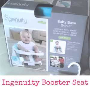 Ingenuity Booster Seat | Dreft Mother's Day Giveaway | Naturally Stellar