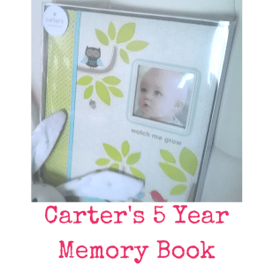 Carter's 5 Year Memory Book | Dreft Mother's Day Giveaway | Naturally Stellar