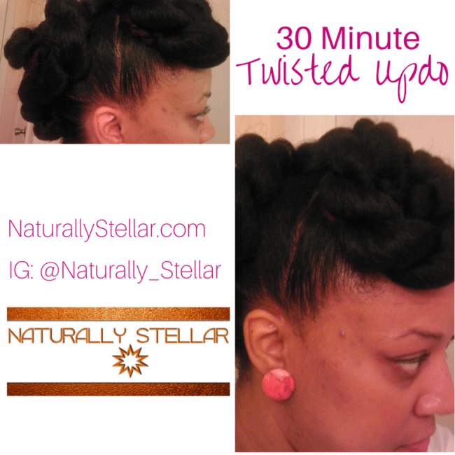 Side View Twisted Updo | Naturally Stellar
