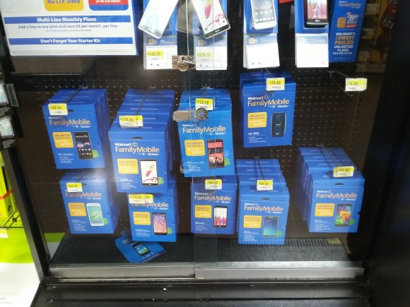 Walmart Family Mobile Plus In-Store Phone Display | Naturally Stellar