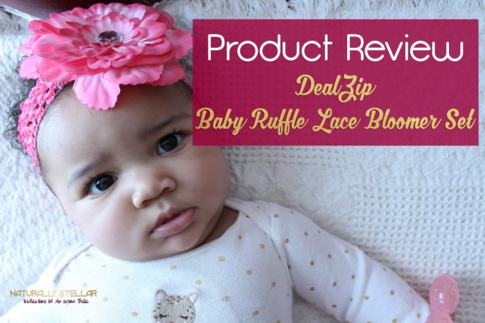 DealZip Baby Ruffle Bloomer Set Review | Naturally Stellar