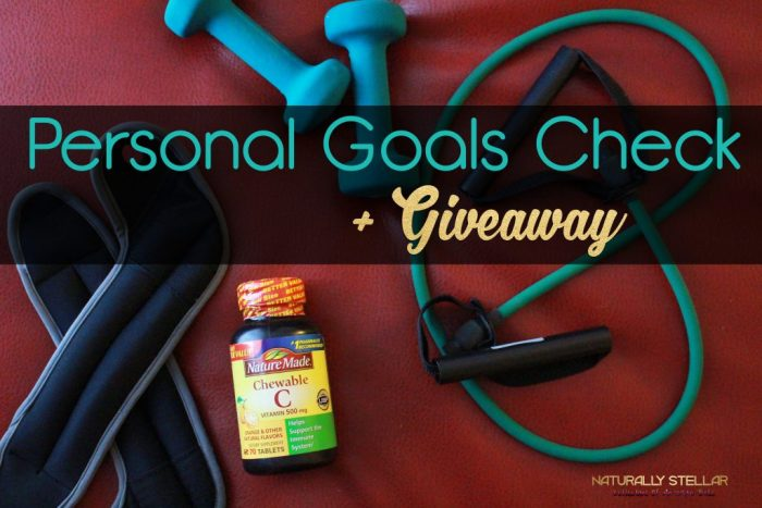 Personal Goals Check + Giveaway | Naturally Stellar
