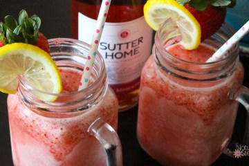 Sutter Home #MoscatoMoments Frozen Strawberry Lemonade Moscato | Naturally Stellar
