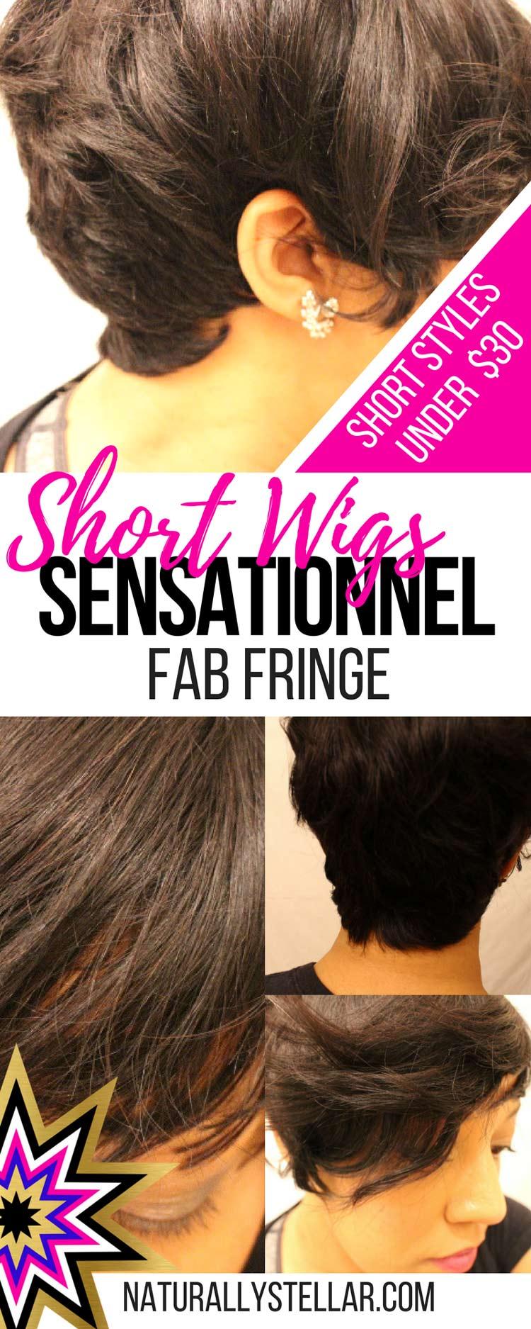 Short Wig Style Inspiration - Sensationnel Fab Fringe   Naturally Stellar