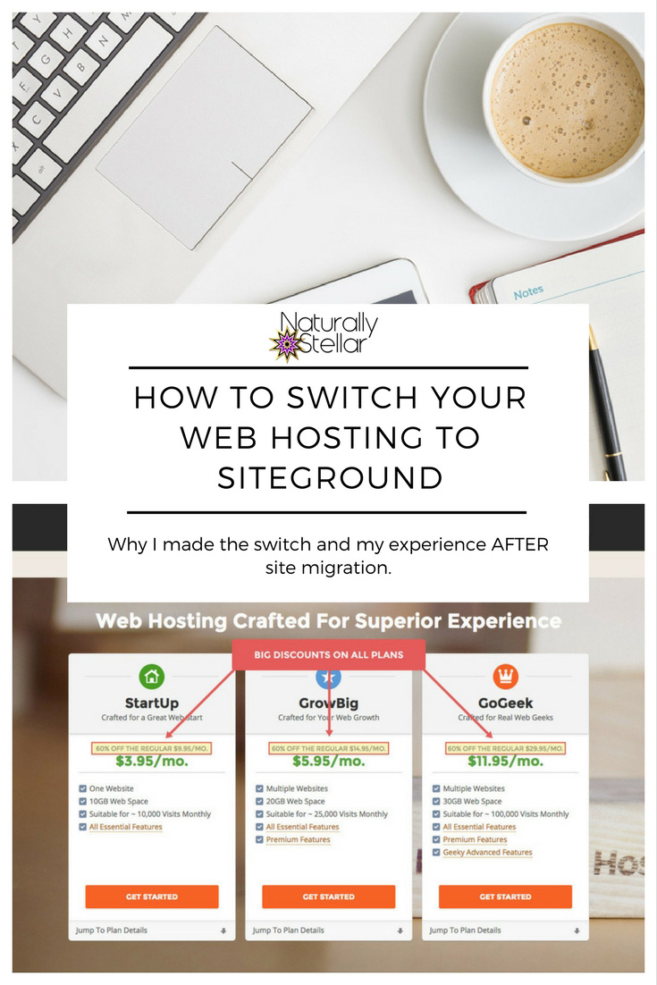 How To Sign Up Or Switch Hosting To SiteGround | Naturally Stellar