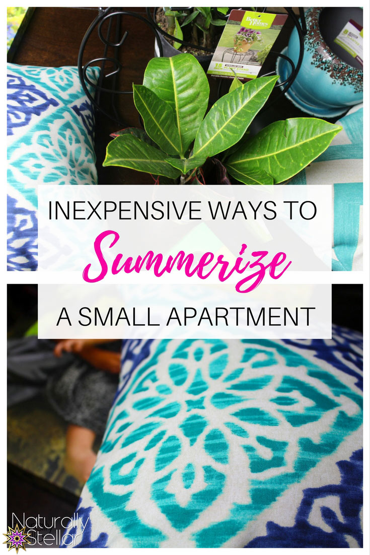 INEXPENSIVE WAYS TO SUMMERIZE YOUR SMALL APARTMENT | Naturally Stellar